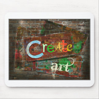 """Create Art"" Urban Design Mouse Pad"