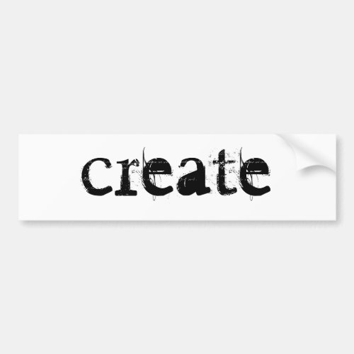 create bumper sticker