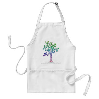 Create Color Tree Lines Adult Apron