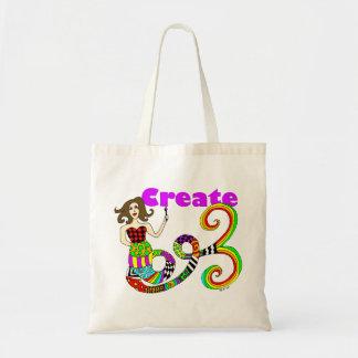 Create Colorful Mermaid Muse Canvas Bag