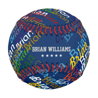 create colorful names personalized baseball