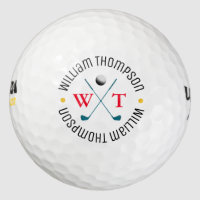 create cool stylish monogram_ball golf balls