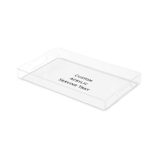 Create Custom Acrylic Coffee Table Serving Tray Rectangle Serving Trays