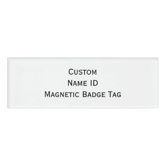 Create Custom Acrylic Name ID Magnetic Badge Tag