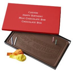 Create Custom Birthday Chocolate Bar Chocolate Box