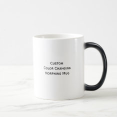 Create Custom Color Changing Hot Beverages Mug at Zazzle