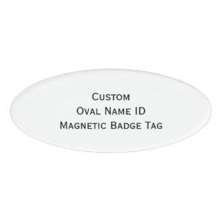 Create Custom Cool Oval Name ID Magnetic Badge Tag
