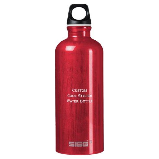Create custom cool stylish aluminum water bottle zazzle for Create custom water bottles