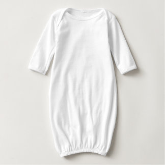 Create Custom Cute Baby Boy Girl Long Sleeve Gown Tshirts