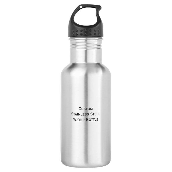 Create custom durable stainless steel water bottle zazzle for Create custom water bottles