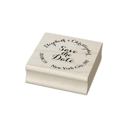 Create Custom Elegant Script Save the Date Wedding Rubber Stamp