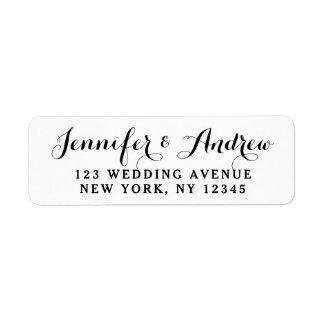 Create Custom Elegant Wedding Label