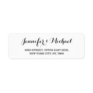 Return address labels zazzle create custom elegant wedding return address label thecheapjerseys Image collections