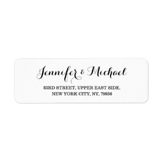 Create Custom Elegant Wedding Return Address Label