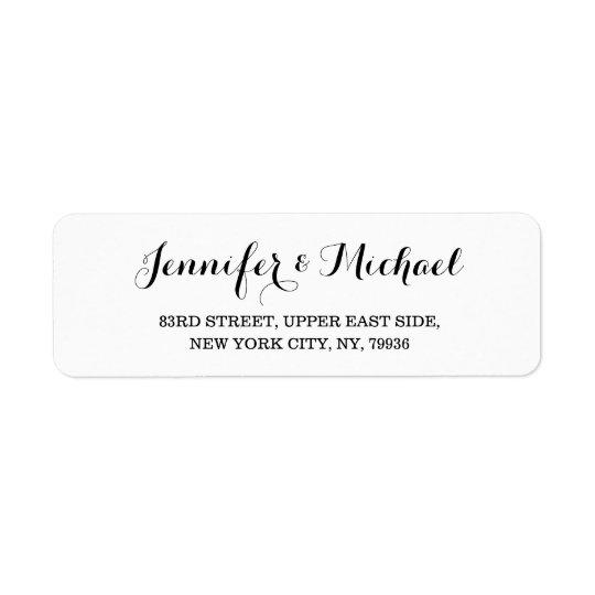 create custom elegant wedding return address label zazzle com