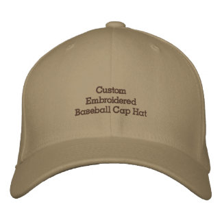 Create Custom Embroidered Baseball Cap Hat