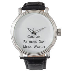 Create Custom Fathers Day Mens Photo Watch For Dad at Zazzle