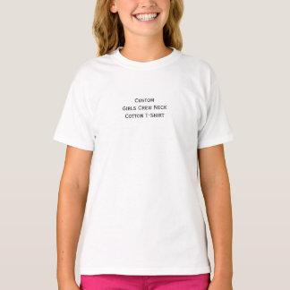 Create Custom Girls Kids Crew Neck Cotton T-Shirt