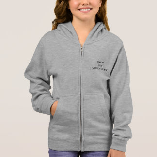 Create Custom Girls Warm Flex Fleece Zip Hoodie