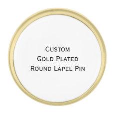 Create Custom Gold Plated Round Photo Lapel Pin