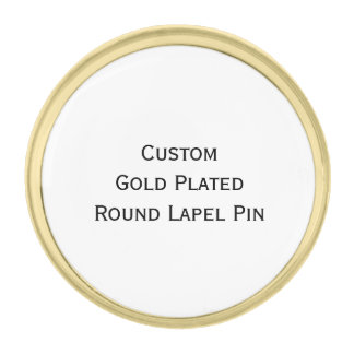 Create Custom Gold Plated Round Photo Lapel Pin