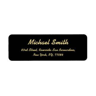 Create Custom Golden Elegant Return Address Label