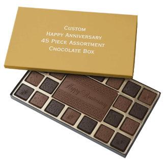 Create Custom Happy Anniversary Chocolate Box Gift 45 Piece Assorted Chocolate Box