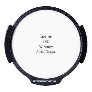 Create Custom LED Window Auto Decal