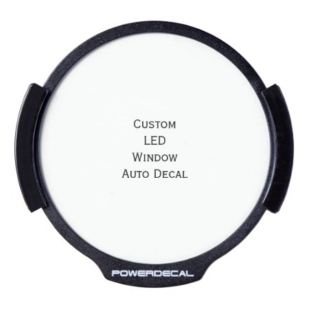 Create Custom Led Window Auto Decal