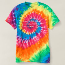 Create Custom Mardi Gras King Spiral Tie-Dye Photo T-shirt