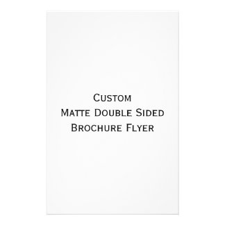 Create Custom Matte Double Sided Brochure Flyer