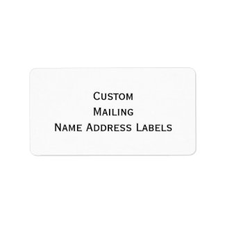 Create Custom Matte Mailing Name Address Labels