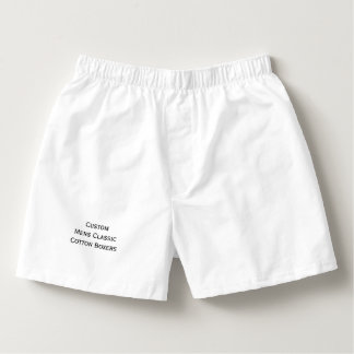 Create Custom Mens Classic Cotton Boxers Sleepwear