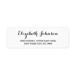create custom modern elegant return address label
