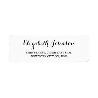 Create Custom Modern Elegant Return Address Label at Zazzle