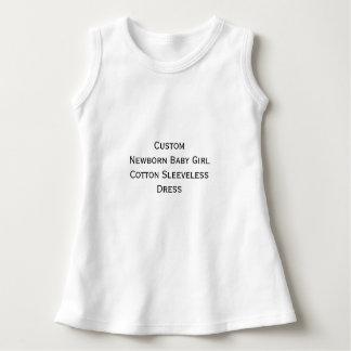 Create Custom Newborn Baby Girl Sleeveless Dress