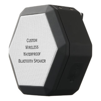 Create Custom Personalized Boom Bass Wireless Black Bluetooth Speaker