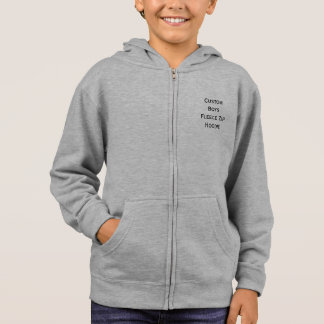 Create Custom Personalized Boys Fleece Zip Hoodie