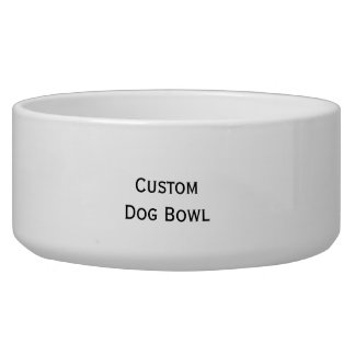 Create Custom Personalized Ceramic Pet Dog Bowl