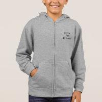 Create Custom Personalized Kids Unisex Zip Hoodie