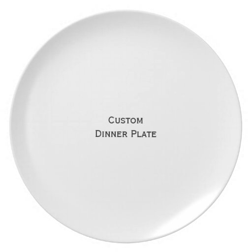 Create Custom Personalized Photo Dinner Plate Zazzle