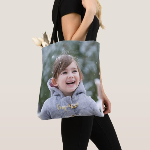 Create Custom Personalized Photo Stylish Trendy Tote Bag