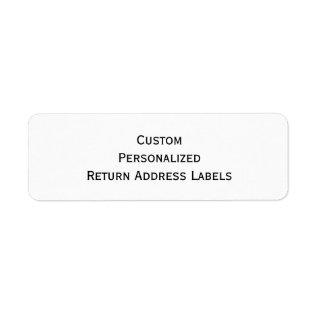 Create Custom Personalized Return Address Labels at Zazzle