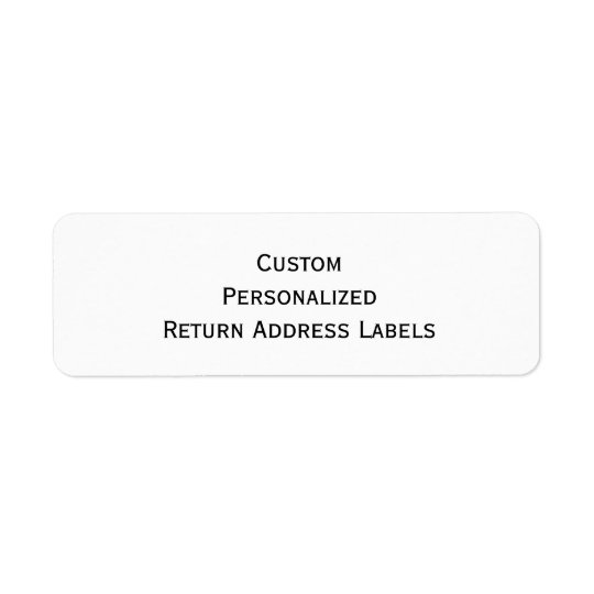 create custom personalized return address labels zazzlecom With create custom address labels