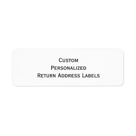 create custom personalized return address labels zazzle com