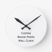 Create Custom Personalized Round Photo Wall Clock