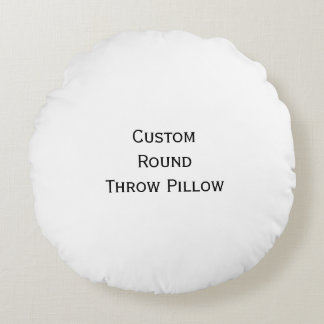 Create Custom Personalized Soft Round Throw Pillow