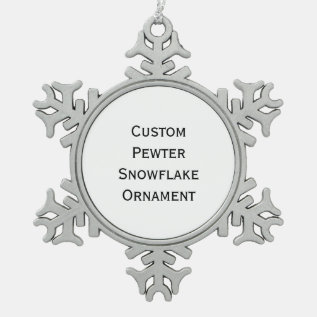 Create Custom Pewter Snowflake Christmas Ornament at Zazzle