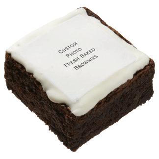 Create Custom Photo Fresh Baked Brownies Dessert