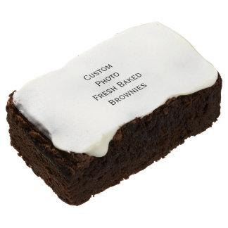 Create Custom Photo Fresh Baked Yummy Brownies